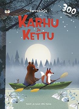 Bear and Fox sticker book cover by Ulla Sainio