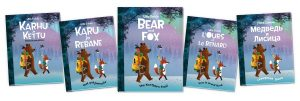 Bear and Fox: The Northern Trail picture book International covers